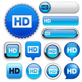 HD high-detailed web button collection. — Stock Vector