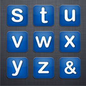 Carrés lettre moderne app icônes. — Vecteur