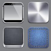 方形现代应用程序模板图标. — 图库矢量图片
