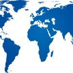 Blue world map. — Stock Vector #11742202
