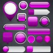 Purple high-detailed modern buttons. — Vector de stock