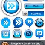 Постер, плакат: Forward high detailed web button collection