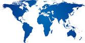 Blue world map. — Stock Vector