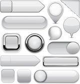 Grey high-detailed modern buttons. — Stock Vector