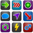 Stock Vector: Square modern app template icons.