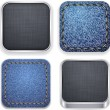 Square modern app template icons. — Stock Vector