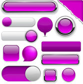 Purple high-detailed modern buttons. — Stock Vector