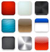 Square modern app template icons. — Cтоковый вектор