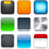 Square modern app template icons. — ストックベクタ
