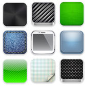 Square modern app template icons. — Stockvector