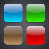 Square app template icons. — Stockvector