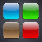Vierkante app sjabloon pictogrammen. — Stockvector