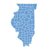State map of illinois by counties — Stock Vector