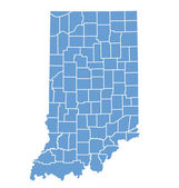 State Map of Indiana by counties — Stock Vector