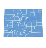 State Map of Colorado by counties — Stock Vector