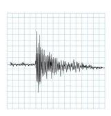 Earhquake wave — Stock Vector