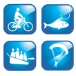 Adventure sport icons — Stock Vector