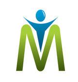 M letter — Stock Vector