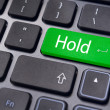 Hold concepts in online stock trading — Stock Photo