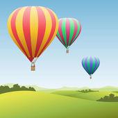 Horkovzdušné balóny — Stock vektor