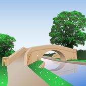 Puente del canal — Vector de stock