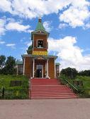 Igreja de madeira de arcanjo miguel em gomel — Foto Stock