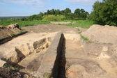 Excavaciones en la colina del castillo — Foto de Stock