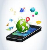Smart phone technologies. — Stock Vector