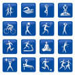 Stock Vector: Sport_fitness_buttons_icons