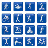 Sport_fitness_buttons_icons — Stock Vector