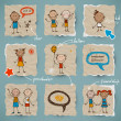 Hand-drawn children set - Imagen vectorial