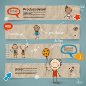 Hand-drawn children set — Vector de stock
