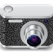 Icon for compact photo camera — Grafika wektorowa