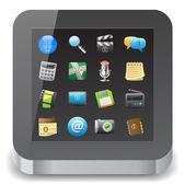 Icono para tablet pc — Vector de stock