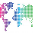 Vector de stock : Dotted world map
