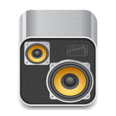Icon for speakers — Stock Vector