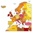 Map of Europe — Vettoriale Stock #11429490