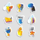 Icone per i media — Vettoriale Stock