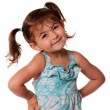 Little toddler girl attitude - Stock Photo
