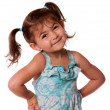 Foto de Stock  : Little toddler girl attitude