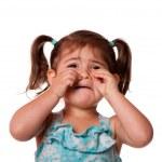 Sad crying Little toddler girl — Stock Photo
