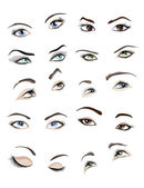 Woman's eyes set — Vector de stock