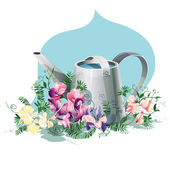 Watering-can — Stock Vector