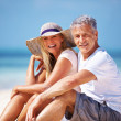 Royalty-Free Stock Photo: Happy couple at beach