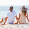 Royalty-Free Stock Photo: Couple relaxing on the beach
