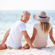 Royalty-Free Stock Photo: Couple together on beach