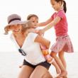 Royalty-Free Stock Photo: Mother having fun with daughters