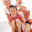 Royalty-Free Stock Photo: Mother enjoying with daughters