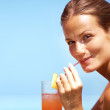Cocktails in the sun - Foto Stock