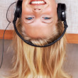 Youth lifestyle - Young woman listening music - Stok fotoraf